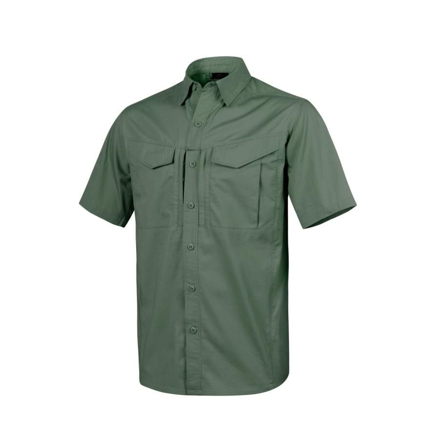 Koszula DEFENDER Mk2 short sleeve® - PolyCotton Ripstop - Olive Green - 3XL (KO-DS2-PR-02-B08)