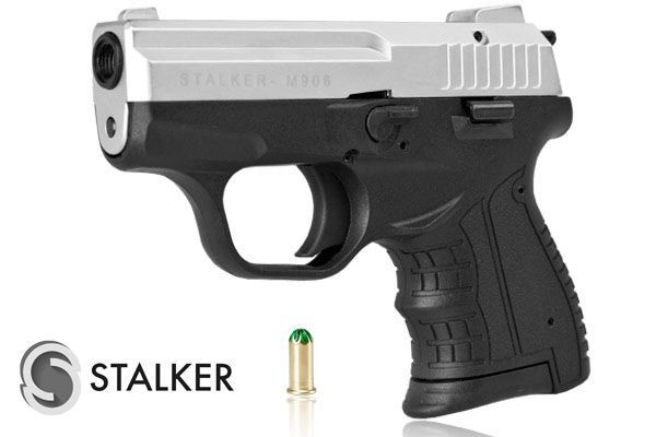 Pistolet hukowy STALKER M906 chrom mat kal. do 6 mm