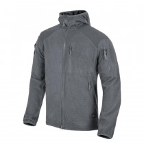 Polar Helikon ALPHA HOODIE - Grid Fleece - Shadow Grey (BL-ALH-FG-35)